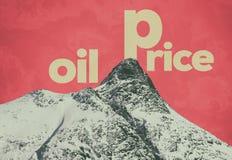 Oljepriser stock illustrationer