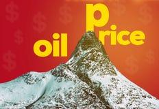 Oljepriser royaltyfri illustrationer