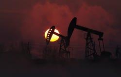 oljepump Arkivbilder