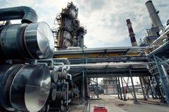 oljeraffinaderi Arkivbild