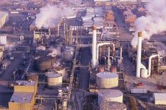Oljeraffinaderi Royaltyfri Fotografi