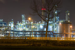 Oljeraffinaderi Arkivfoton