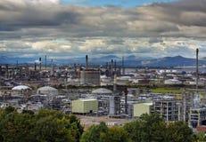 Oljeraffinaderi i UK Arkivfoton