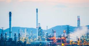 Oljeraffinaderi oljeväxt Fotografering för Bildbyråer