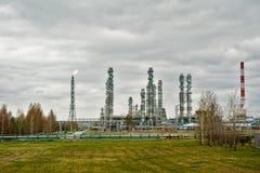 Oljeraffinaderibransch Tobolsk Ryssland Arkivfoton