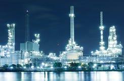 Oljeraffinaderifabrik Arkivbild