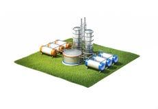 Oljeraffinaderifabrik Arkivfoton
