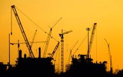 Oljeraffinaderikonstruktion arkivfoto