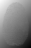 oljiga grå färg 3D identifierar med fingeravtryck belägger med metall på Arkivbilder