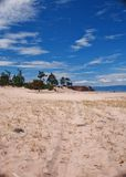 Olkhon ö, Lake Baikal Arkivfoto