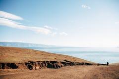 Olkhon Insel auf dem Baikalsee stockbild