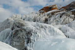 Olkhon in inverno Immagini Stock Libere da Diritti