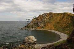 Olkhon island. View from rock Shamanka Royalty Free Stock Photos