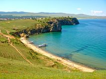 Olkhon Island on Lake Baikal. The largest freshwater lake in the world. stock photography