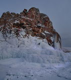 Olkhon Island in the winter Royalty Free Stock Photos