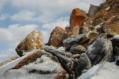 Olkhon no inverno Imagem de Stock