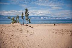 Olkhon wyspa, Jeziorny Baikal Zdjęcia Royalty Free