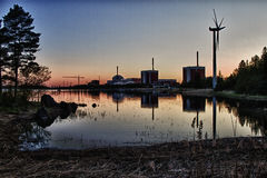 Olkiluoto elektrownia jądrowa zdjęcie royalty free