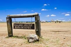 Olkiombo Airstrip Royalty Free Stock Photography