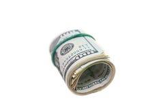 Oll av dollarräkningar Arkivbild