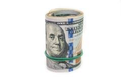 Oll av dollarräkningar Royaltyfria Bilder