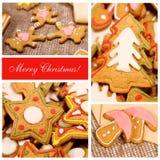 Ollage del ¡ di Ð Biscotti dello zenzero di Natale Immagine Stock