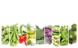 Сollage fresh  vegetables Stock Images