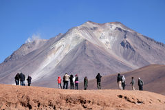 Ollague or Ullawi stratovolcano in the Andes Royalty Free Stock Photography
