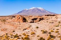 Ollague volcano Stock Photo