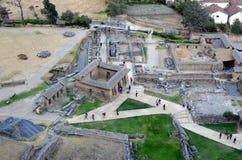 Ollantaytambo的历史废墟 库存照片