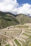 Ollantaytambo石废墟 图库摄影