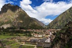Ollantaytambo губит, в священной долине, Перу Стоковые Изображения