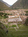 Ollantaytambo From Above Stock Photo