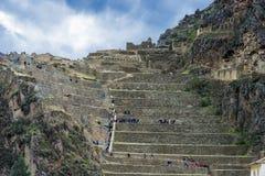 Ollantaytambo arruina o Peru peruano de Andes Cuzco Fotos de Stock Royalty Free