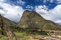 Ollantaytambo, dans la vallée sacrée, le Pérou Photo libre de droits