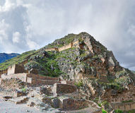 Ollantaytambo - fortaleza vieja del inca en el valle sagrado en los Andes fotos de archivo libres de regalías