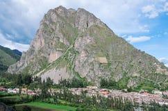 Ollantaytambo - fortaleza vieja del inca en el valle sagrado en los Andes imágenes de archivo libres de regalías