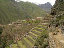 Ollantaytambo, The Inca Fortress, Peru Royalty Free Stock Images