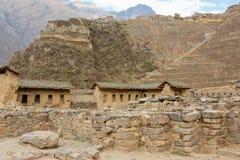 Ollantaytambo - Inka-Ruinen stockbilder