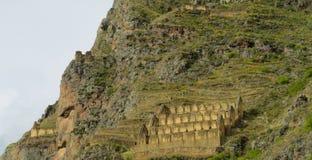 Ollantaytambo-Inka-Stadtruine lizenzfreies stockbild