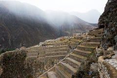 Ollantaytambo - Inkaruinen in Peru stockfoto