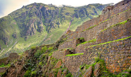 Ollantaytambo, old Inca fortress in the Sacred Valley in the And Royalty Free Stock Photography