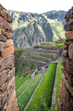 Ollantaytambo, old Inca fortress in the Sacred Valley in the And Royalty Free Stock Photo