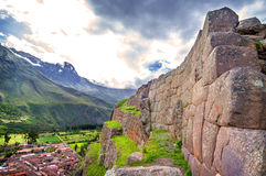 Ollantaytambo, old Inca fortress in the Sacred Valley in the And Royalty Free Stock Images