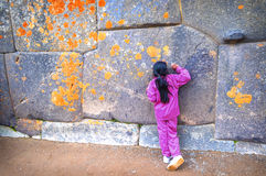 Ollantaytambo, old Inca fortress in the Sacred Valley in the And Royalty Free Stock Photos