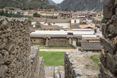 Ollantaytambo - old Inca fortress and town in Peru. Ollantaytambo - old Inca fortress and town the hills of the Sacred Valley (Valle Sagrado) in the Andes royalty free stock image