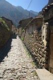 Ollantaytambo old inca town Stock Image