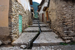 Ollantaytambo old streets, Peru Royalty Free Stock Images