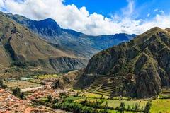 Ollantaytambo, Peru imagem de stock