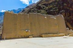 Ollantaytambo Peru, Inca fördärvar och den arkeologiska platsen i Urubamba, Sydamerika. royaltyfri fotografi